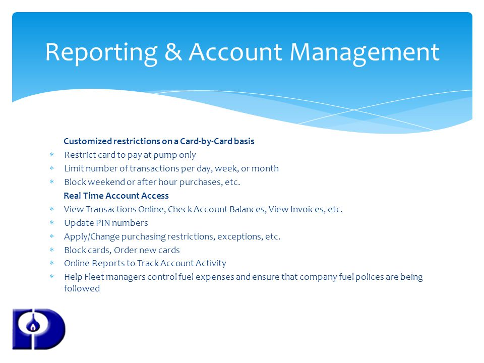 Reporting & Account Management