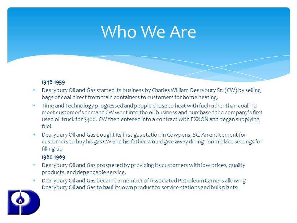 Who We Are 1948-1959.