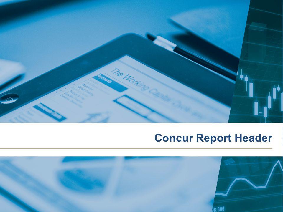 Concur Report Header