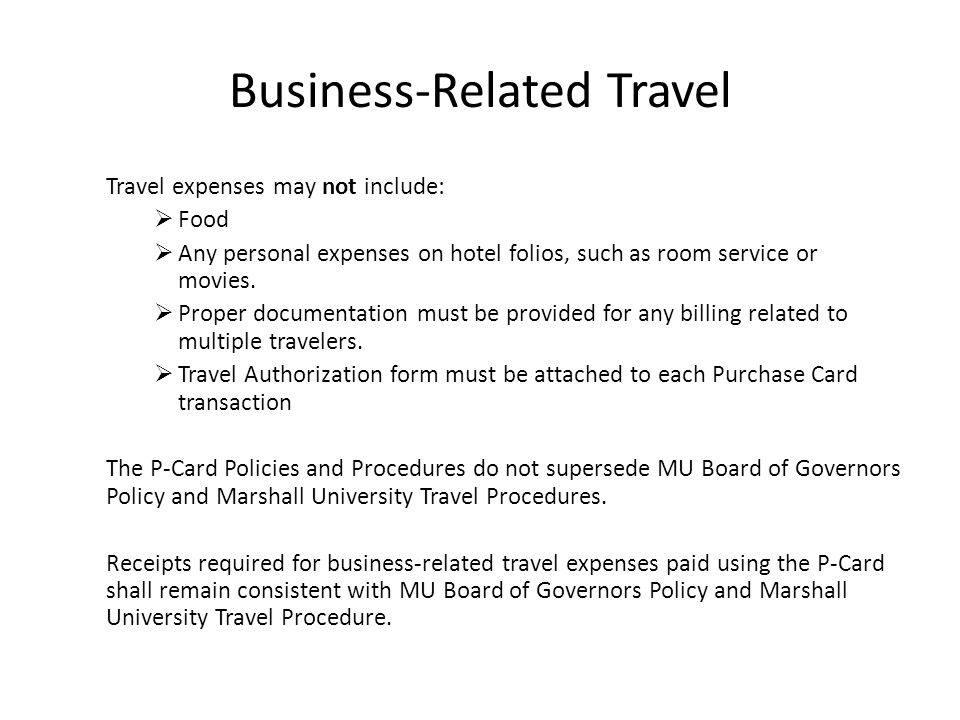 Business-Related Travel