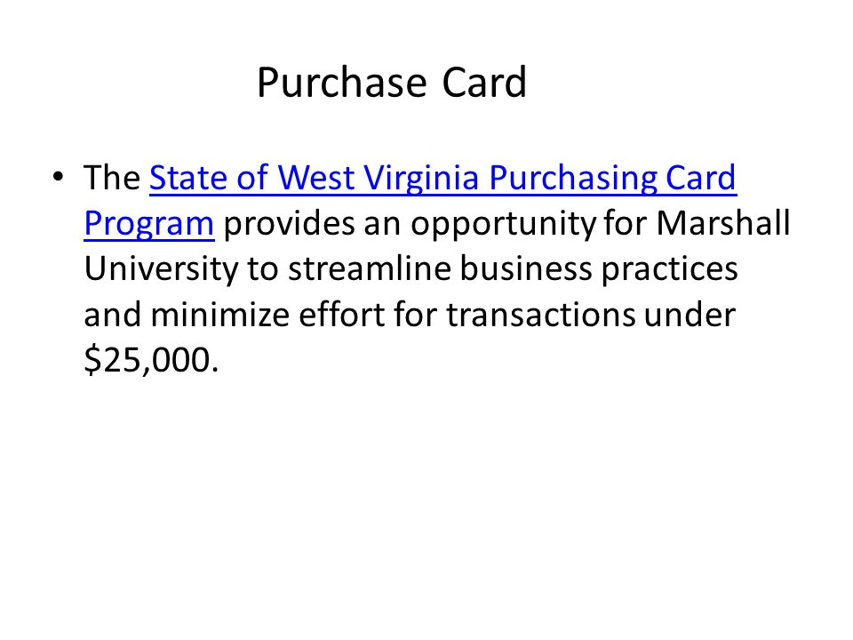 Purchase Card