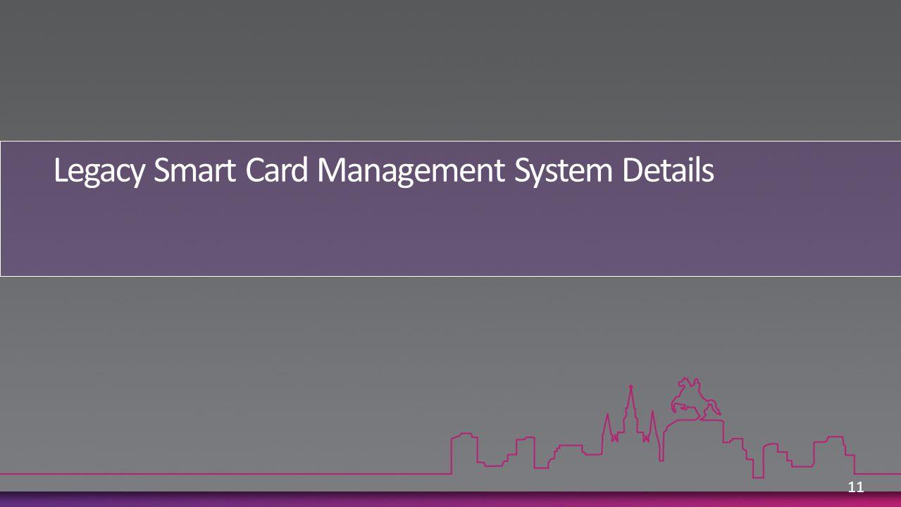 Legacy Smart Card Management System Details