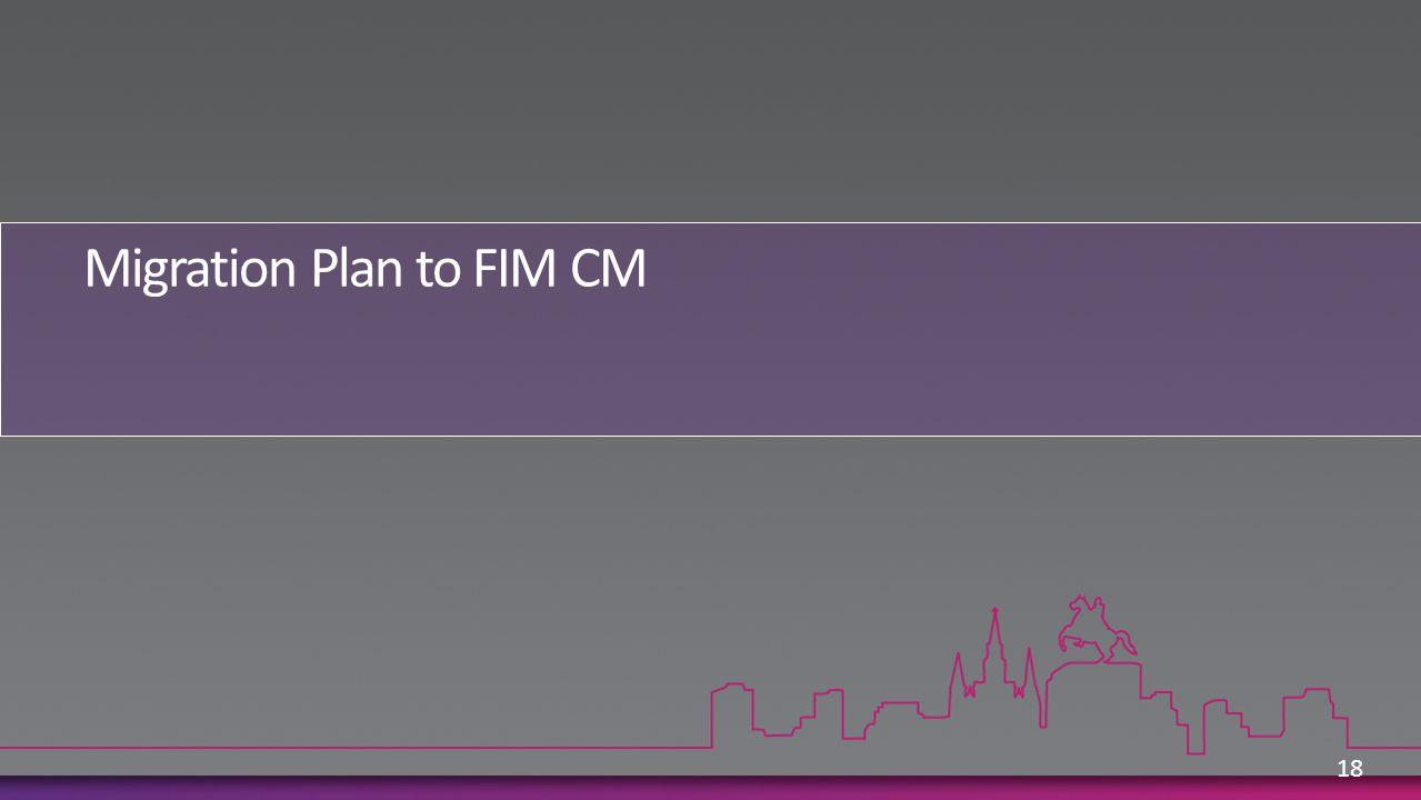 Migration Plan to FIM CM