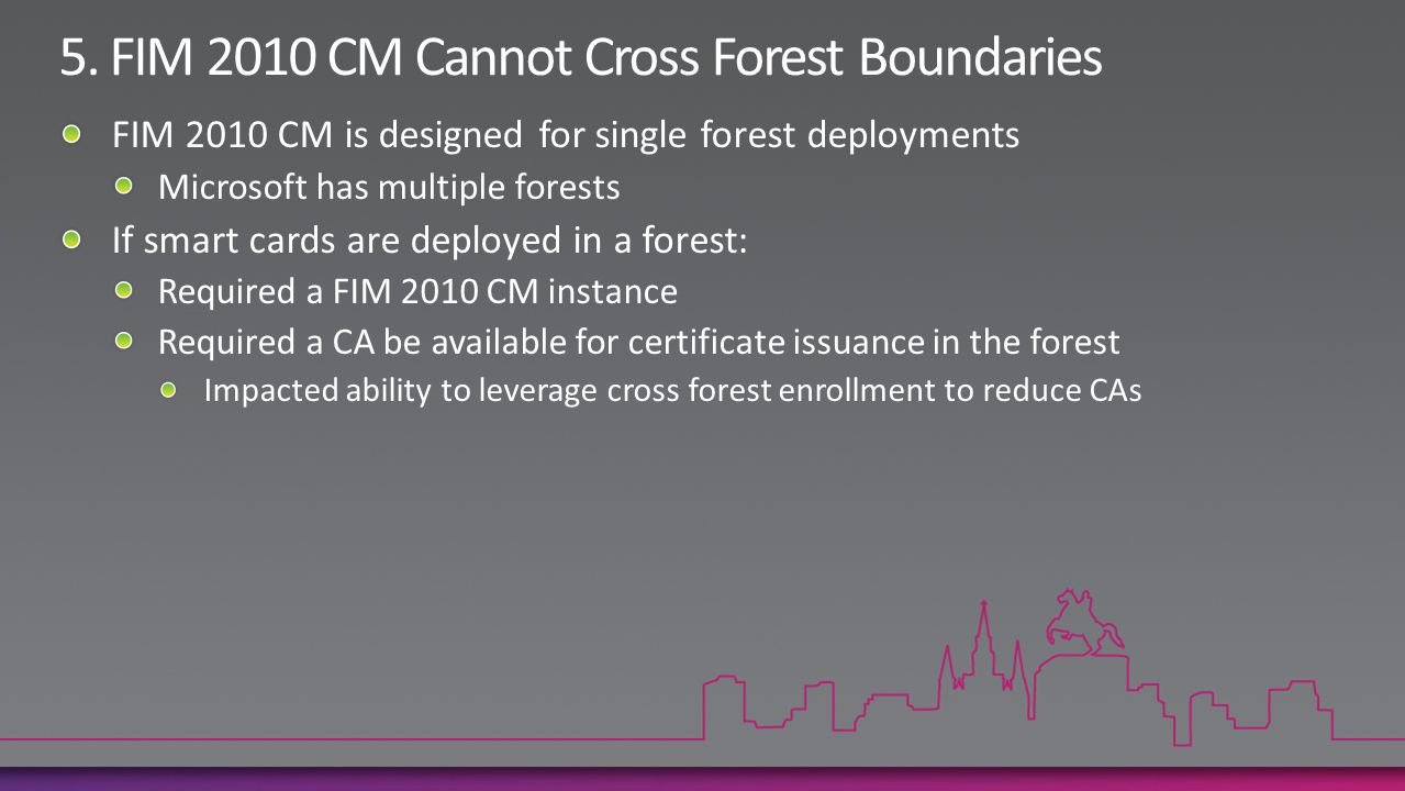 5. FIM 2010 CM Cannot Cross Forest Boundaries