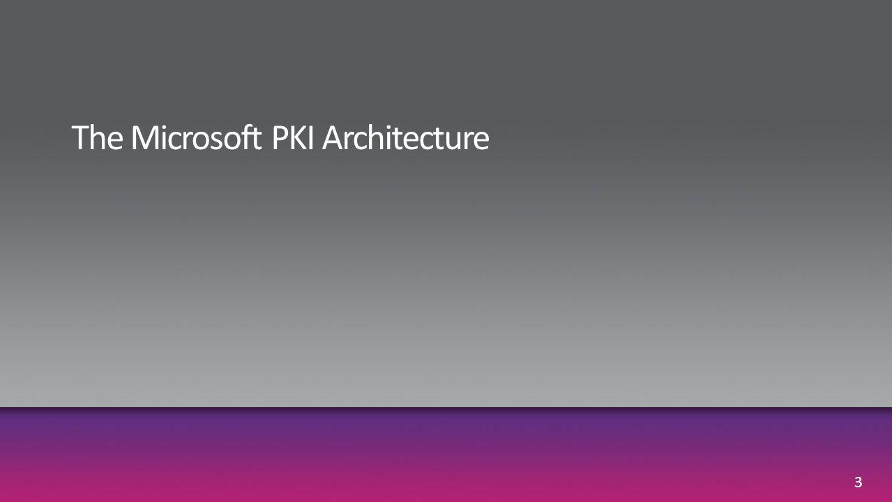 The Microsoft PKI Architecture
