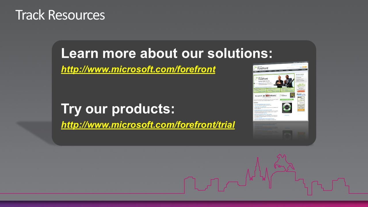 Track Resources Learn more about our solutions: Try our products: