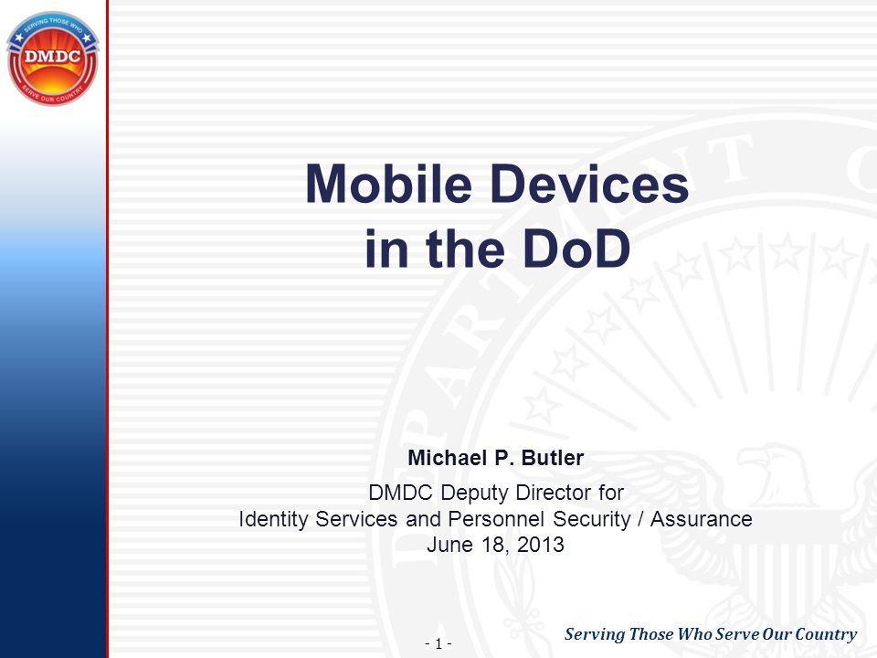 Mobile Devices in the DoD