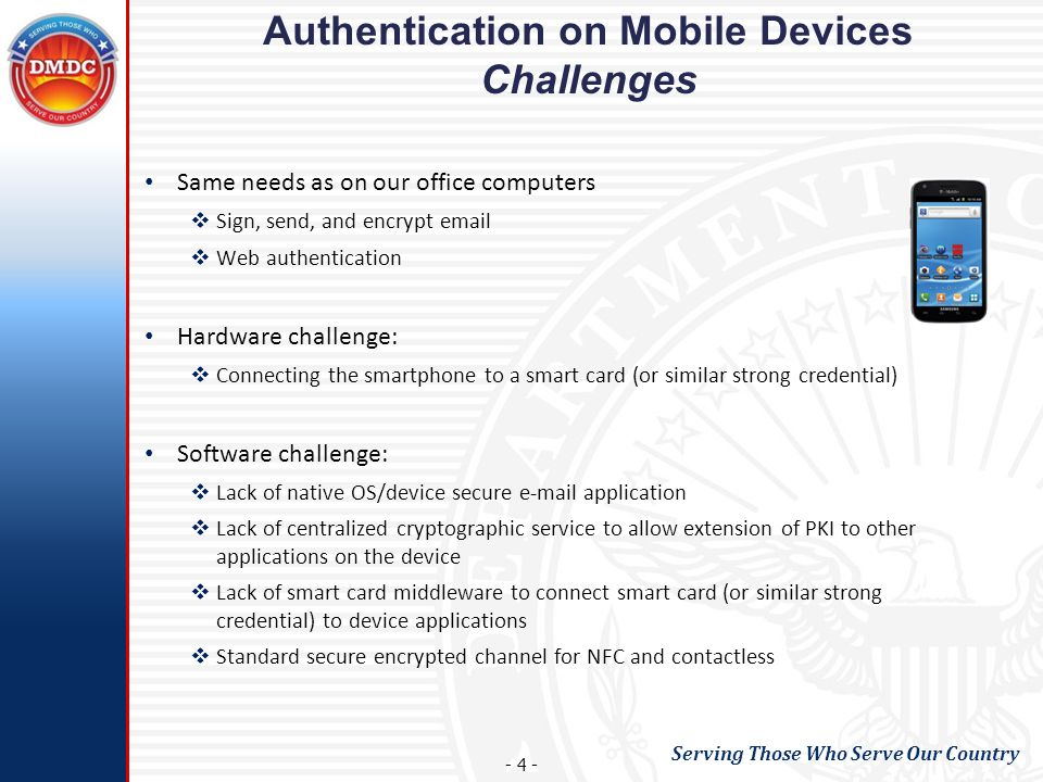 Authentication on Mobile Devices