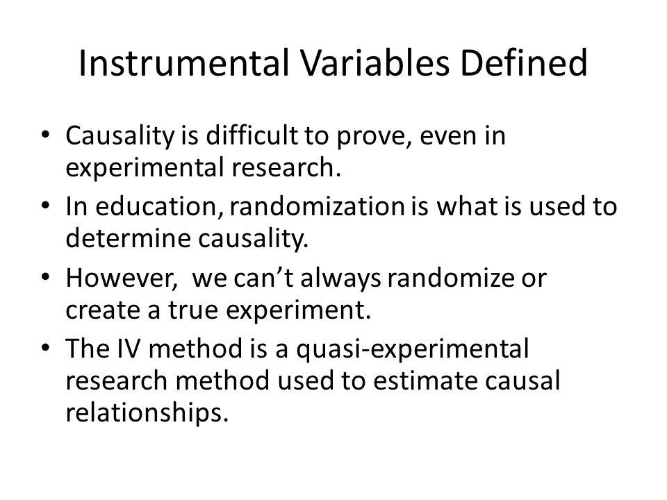 Instrumental Variables Defined