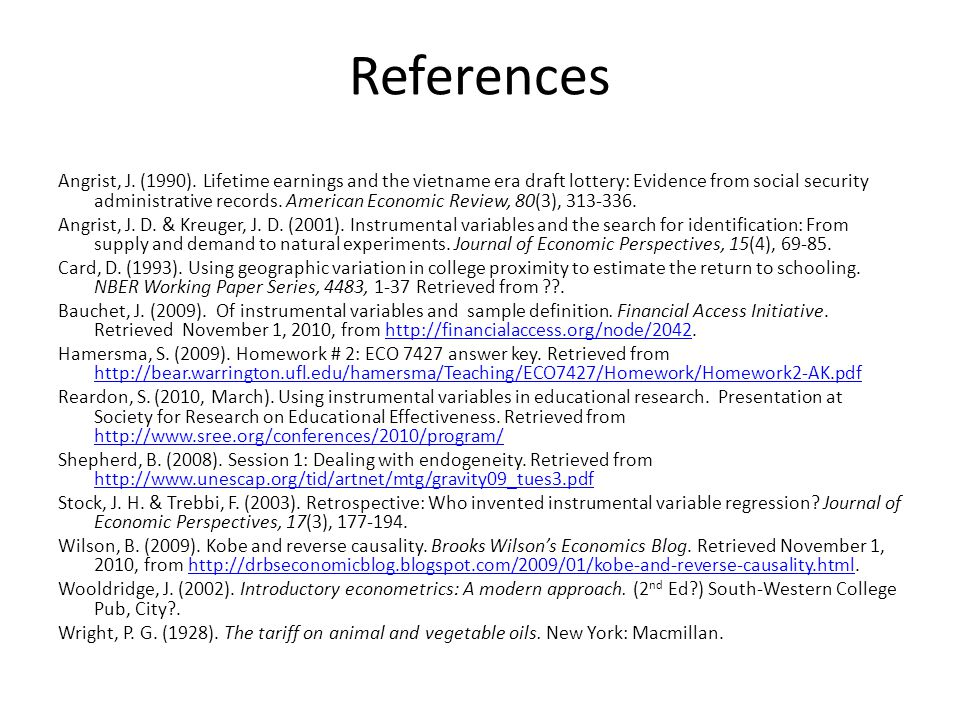 References