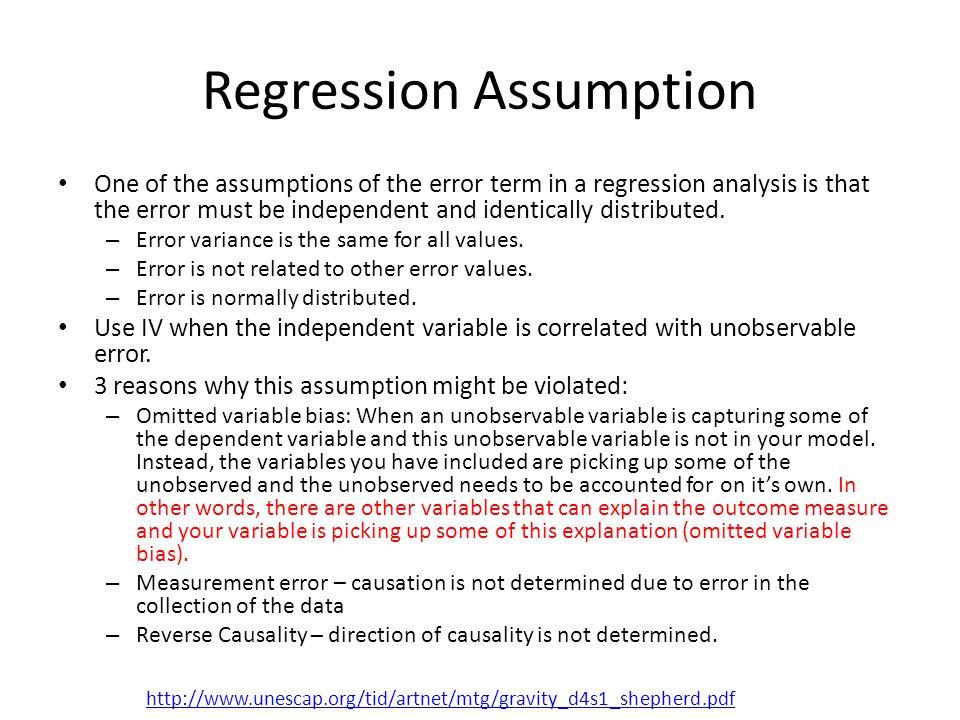 Regression Assumption
