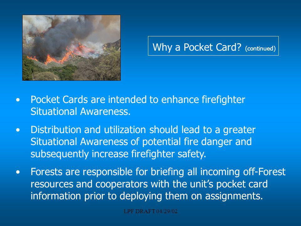Why a Pocket Card (continued)