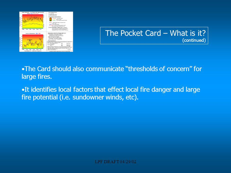 The Pocket Card – What is it (continued)