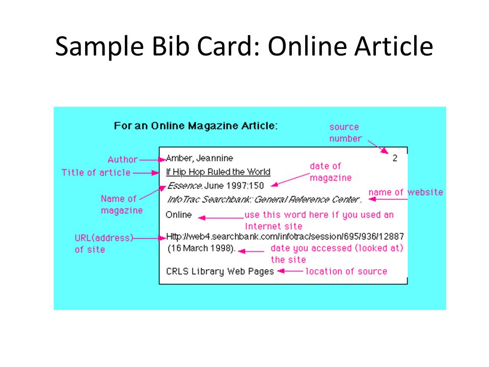 How to Write Bibliography Cards for an MLA Style Report