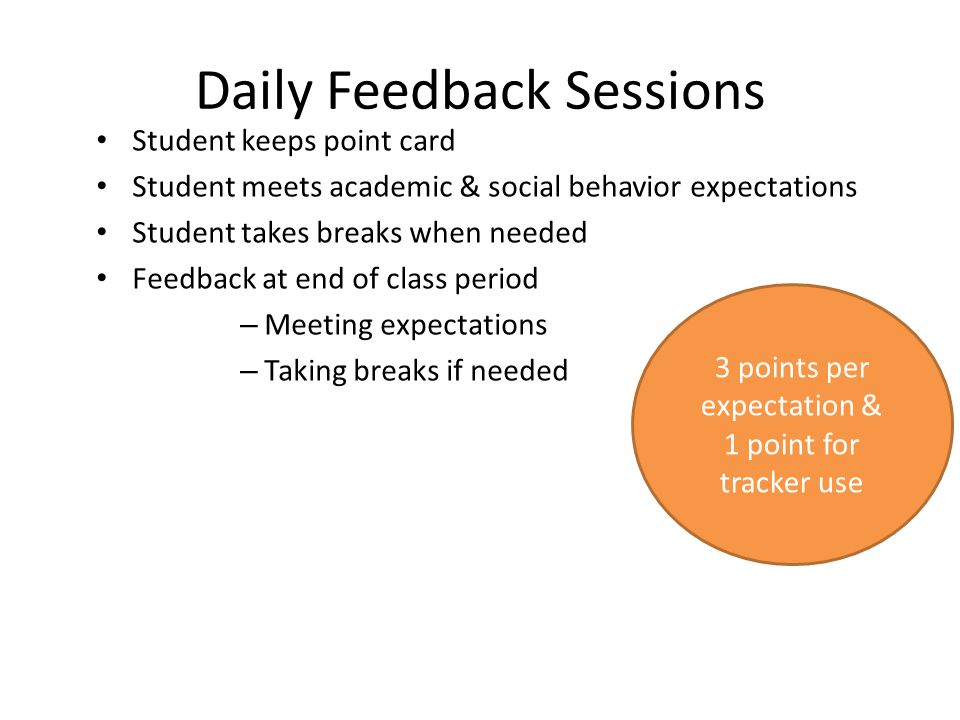 Daily Feedback Sessions