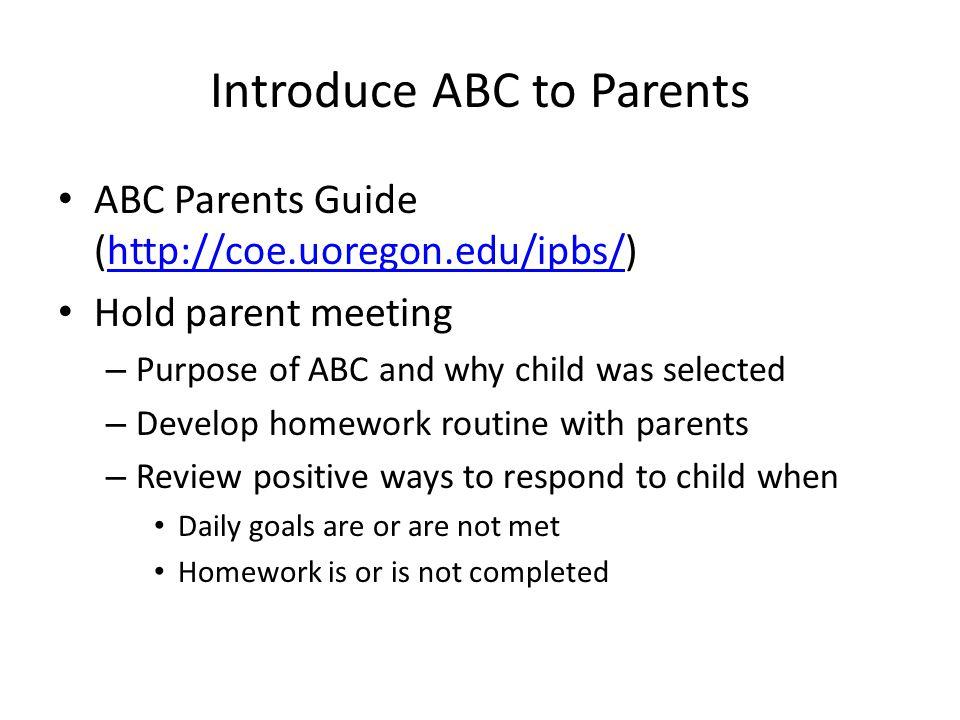 Introduce ABC to Parents