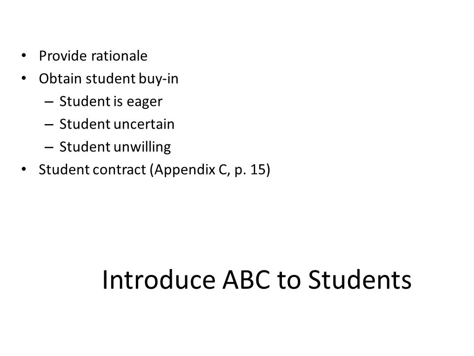 Introduce ABC to Students