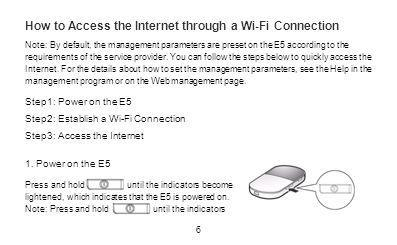 How to Access the Internet through a Wi-Fi Connection