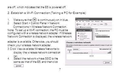 2. Establish a Wi-Fi Connection (Taking a PC for Example)