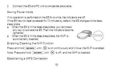 Enabling/Disabling the Wi-Fi Function