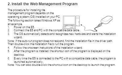 2. Install the Web Management Program