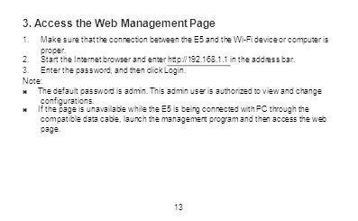 3. Access the Web Management Page