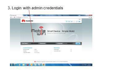 3. Login with admin credentials