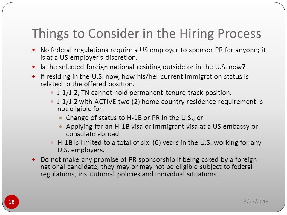 Things to Consider in the Hiring Process