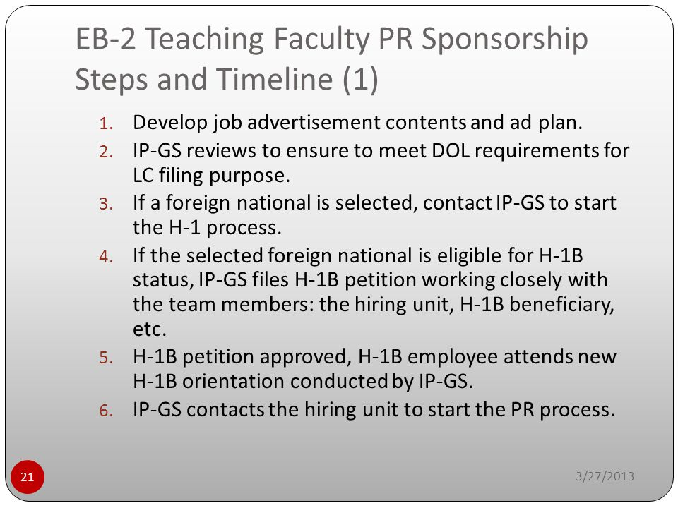 EB-2 Teaching Faculty PR Sponsorship Steps and Timeline (1)