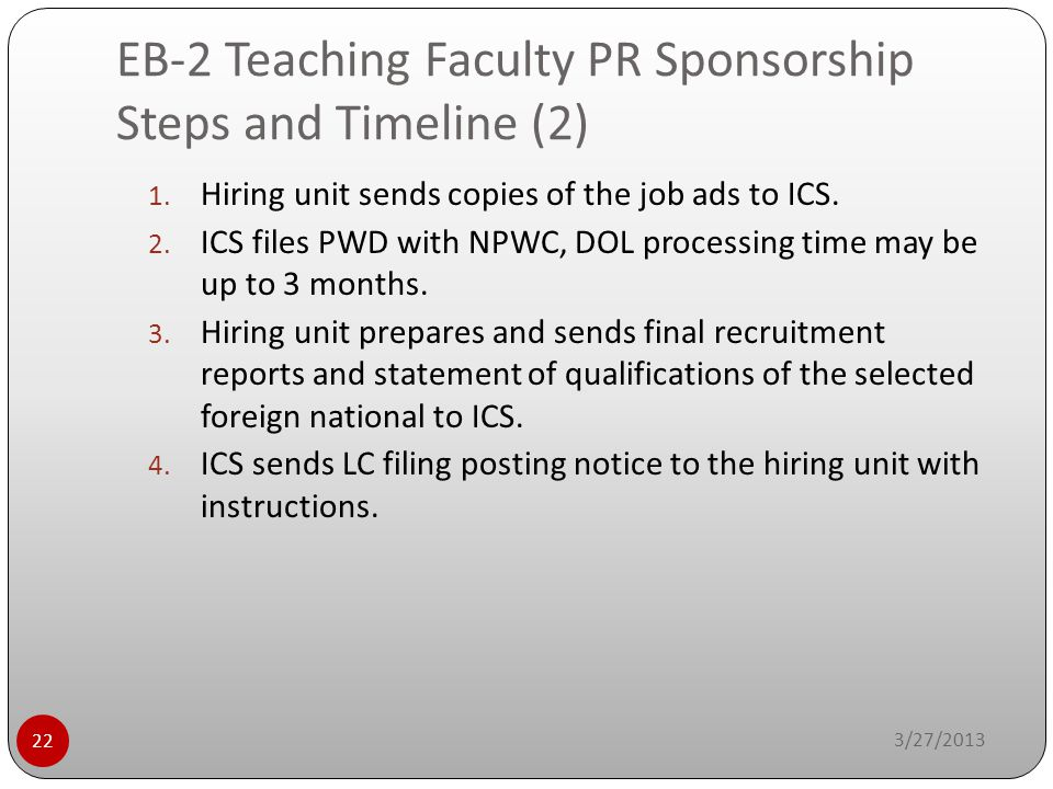 EB-2 Teaching Faculty PR Sponsorship Steps and Timeline (2)