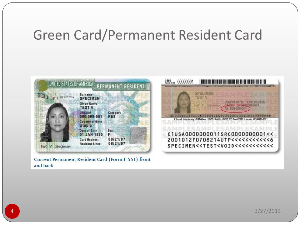 Green Card/Permanent Resident Card