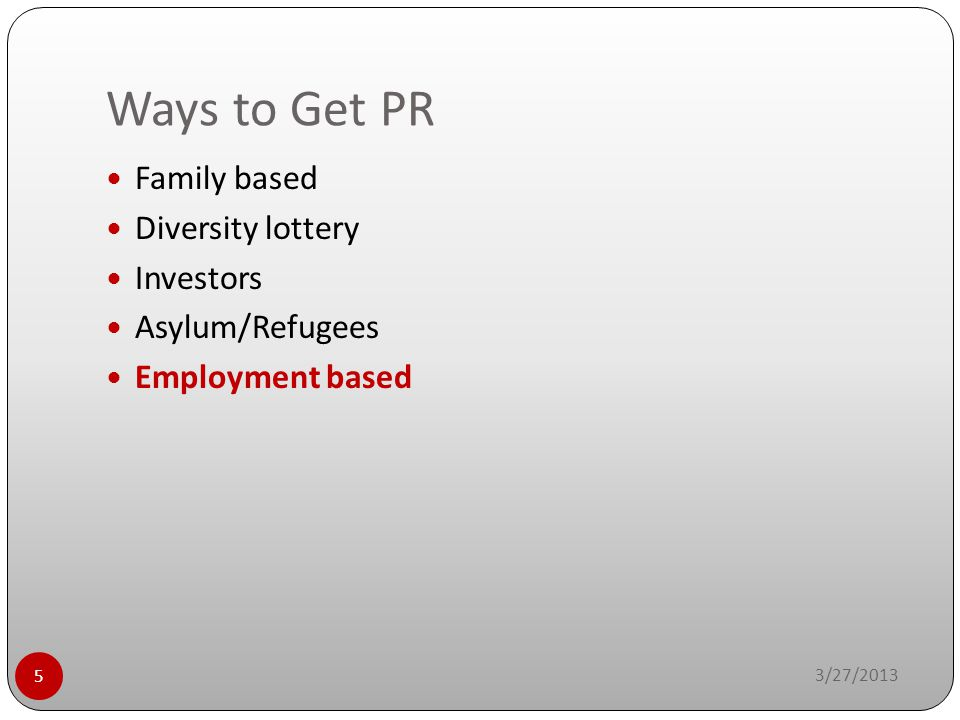 Ways to Get PR Family based Diversity lottery Investors