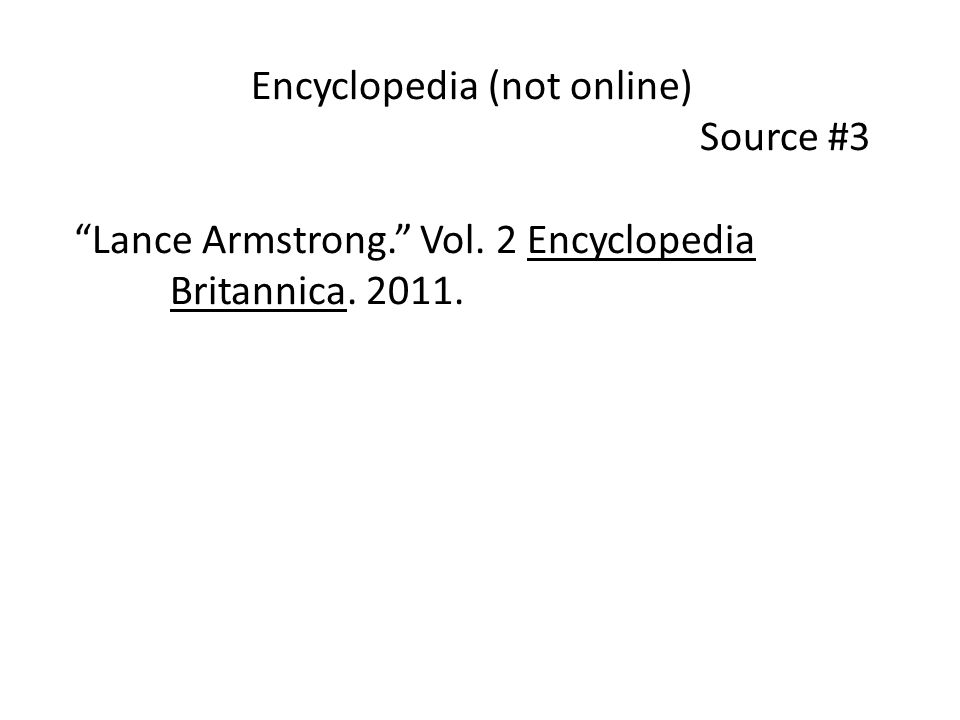 Encyclopedia (not online)