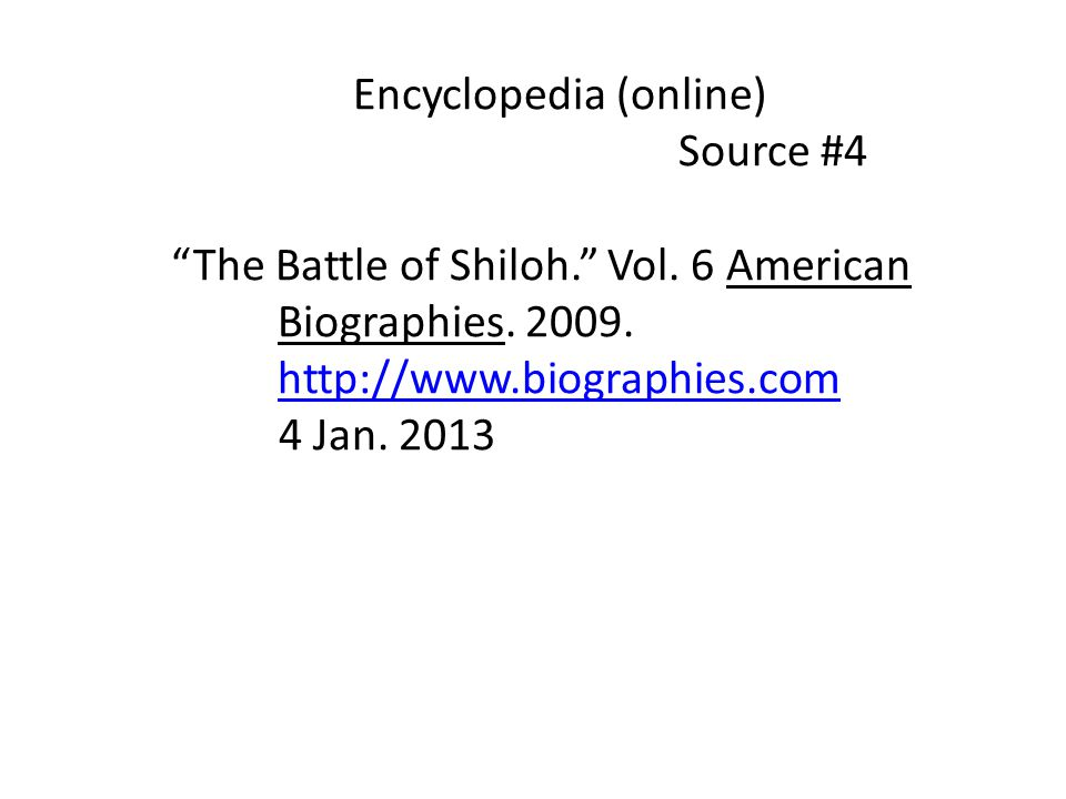 Encyclopedia (online)