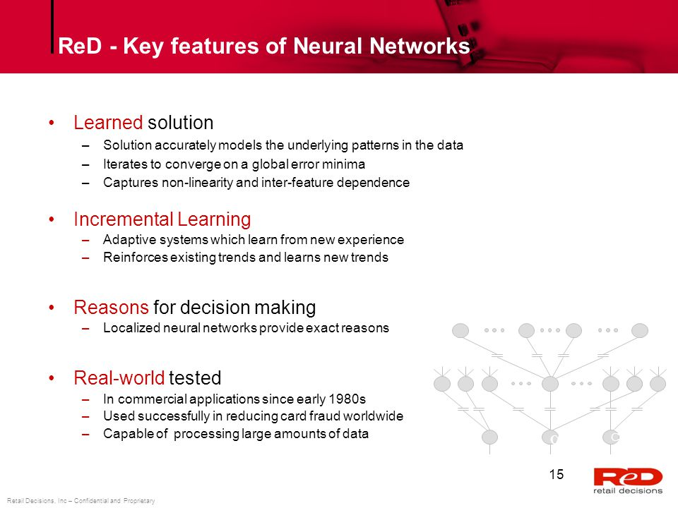 ReD - Key features of Neural Networks