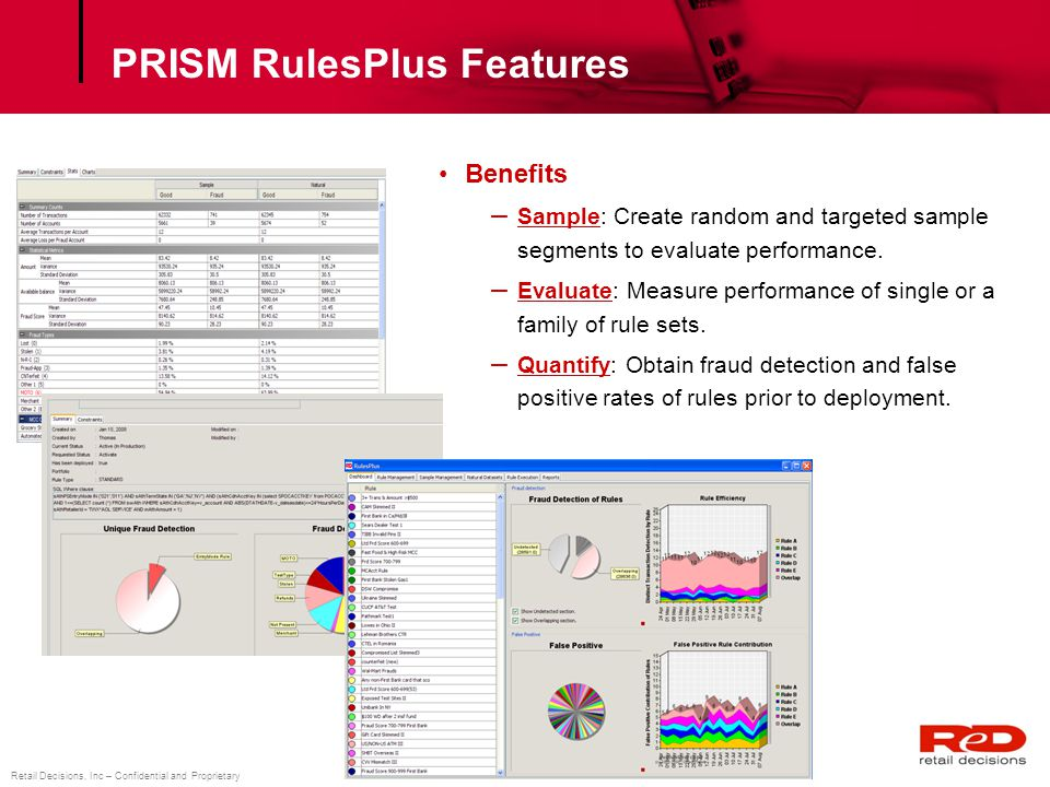 PRISM RulesPlus Features