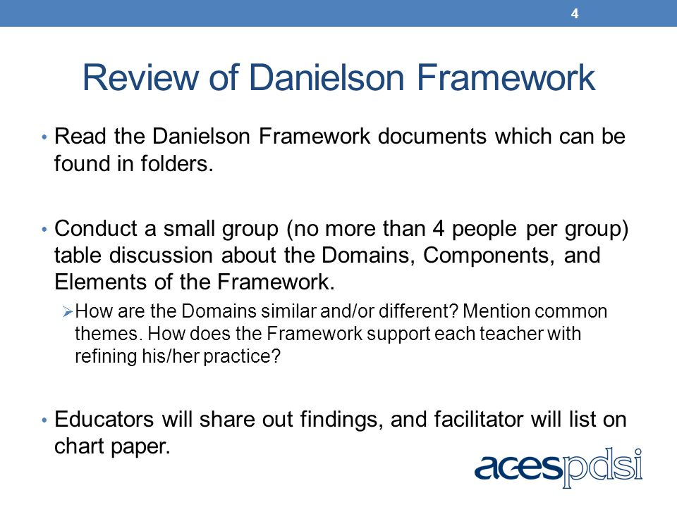 Review of Danielson Framework