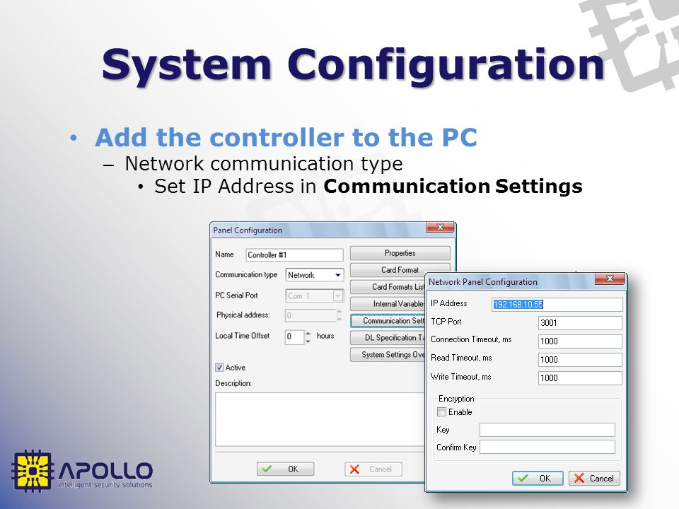 System Configuration Add the controller to the PC