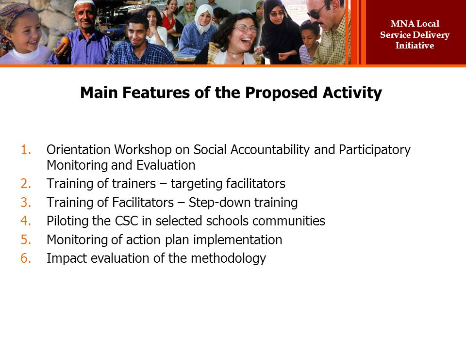 Main Features of the Proposed Activity