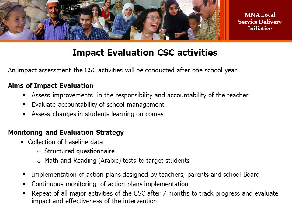 Impact Evaluation CSC activities