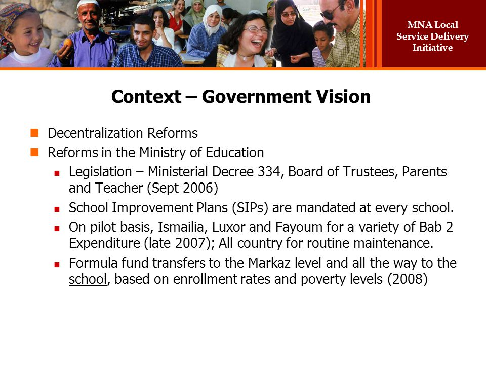 Context – Government Vision