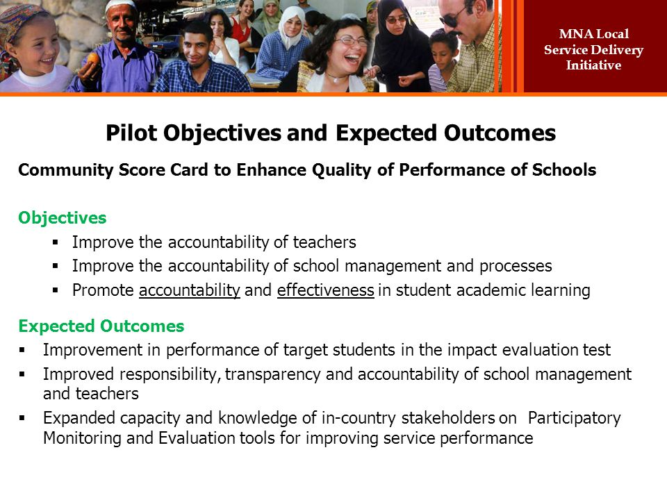 Pilot Objectives and Expected Outcomes