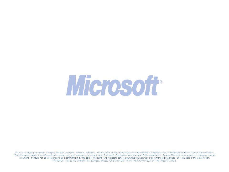 Tech Ed North America 2010 3/31/2017 9:47 PM