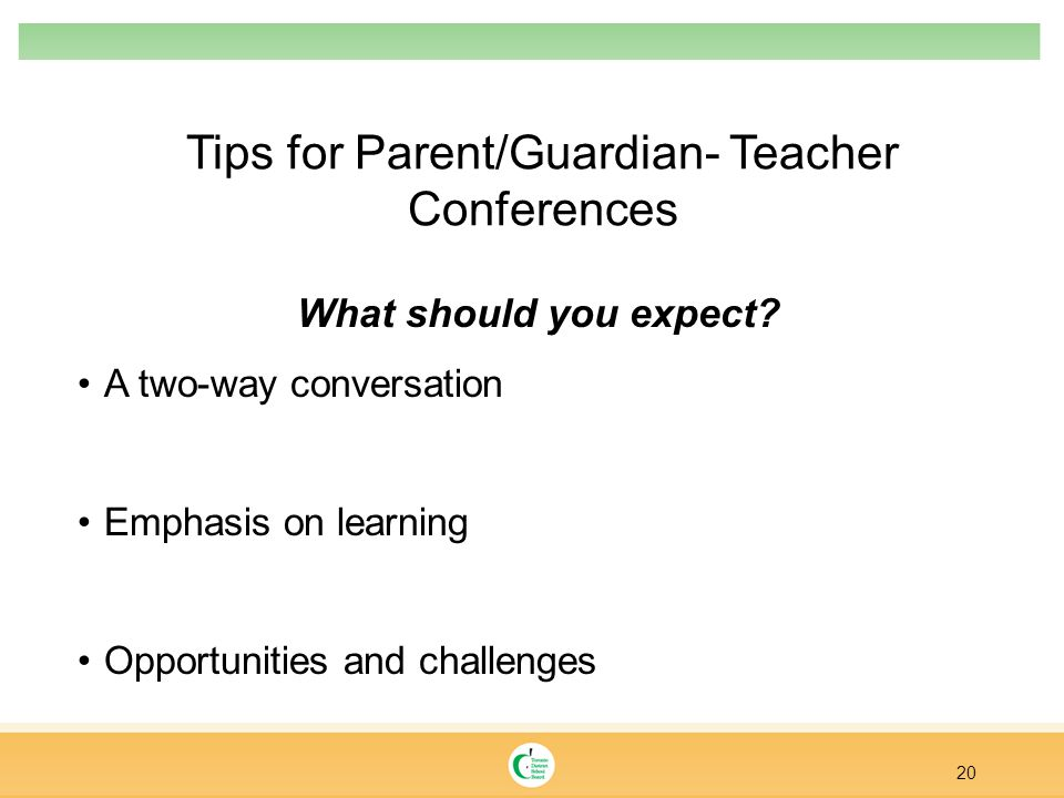 Tips for Parent/Guardian- Teacher Conferences