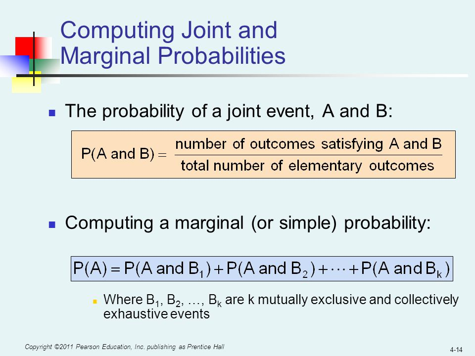 Computing Joint and Marginal Probabilities