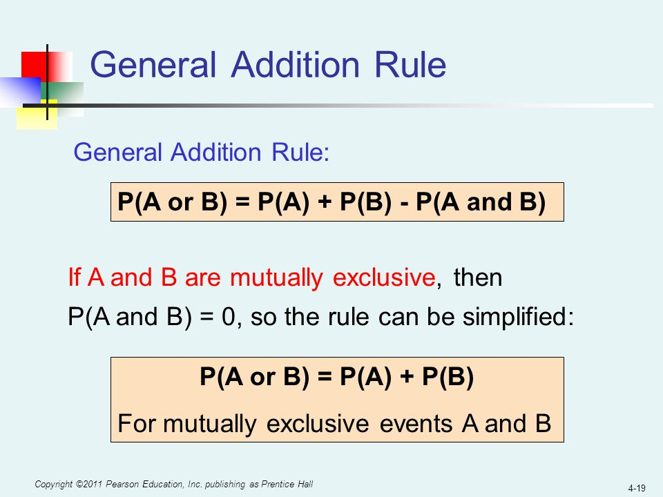 General Addition Rule General Addition Rule: