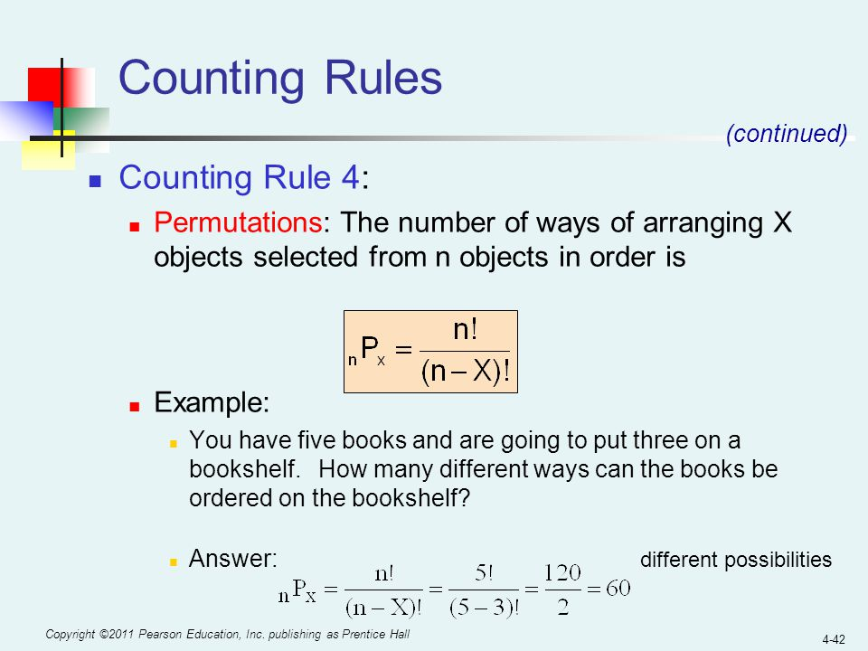 Counting Rules Counting Rule 4: