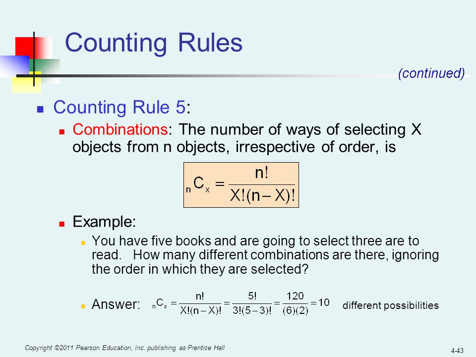 Counting Rules Counting Rule 5: