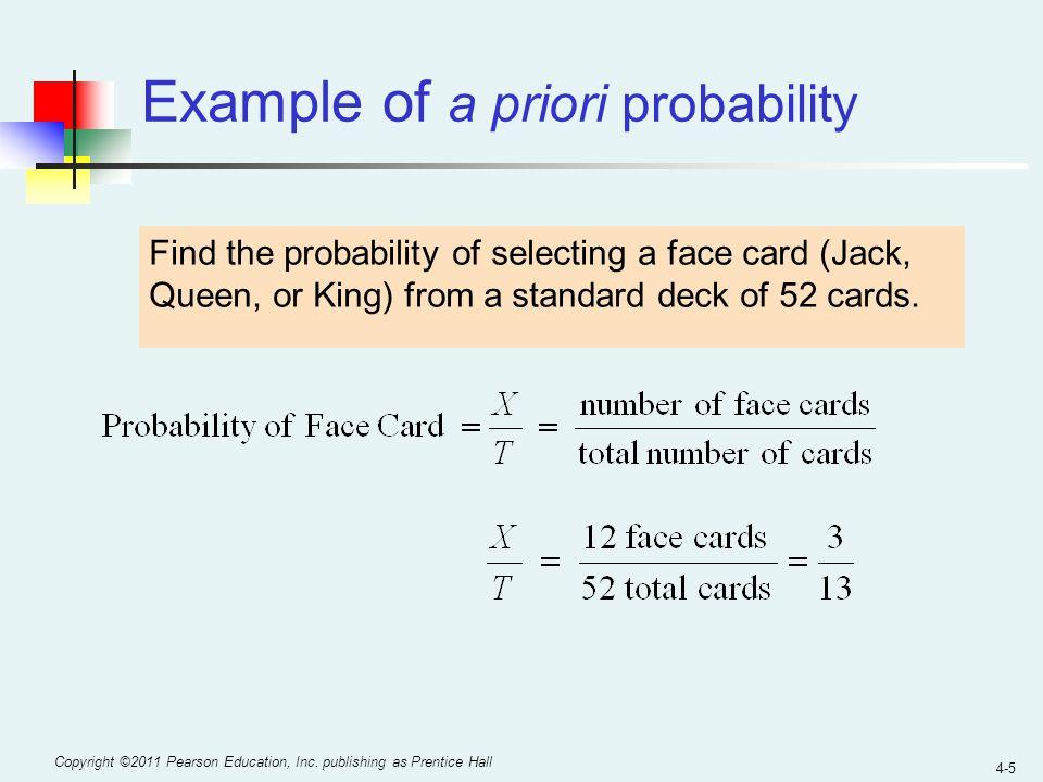 Example of a priori probability