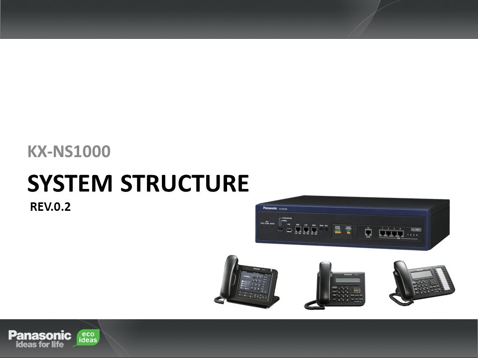 KX-NS1000 KX-NS1000 System Structure Rev.0.2 1